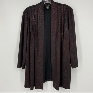 Travelers Collection by Chico's Red Glitzy Jacket